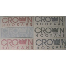"Crown Hookahs ""Crown Banner"" Decal Sticker - 3"""