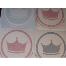 """Crown Hookahs """"Icon"""" Decal Sticker - 6"""""""