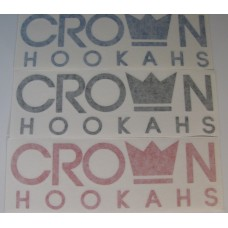 "Crown Hookahs ""Crown Banner"" Decal Sticker - 6"""