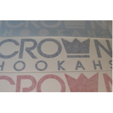 "Crown Hookahs ""Crown Banner"" Decal Sticker - 9"""