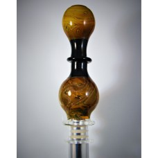 """Yellow Jacket""  - Designer Glass Mouth Piece - D Series #10"