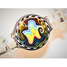 """Zebra Stripe""  - Designer Glass Mouth Piece - D Series #11"
